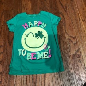 St. Patrick's day tee girls size 7/8